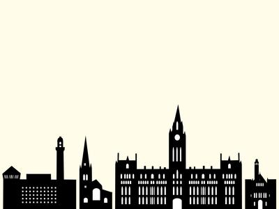 Manchester Buildings Illustration minimal flat illustration vector design