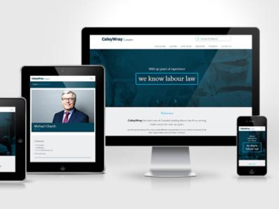 CaleyWray Website mockup