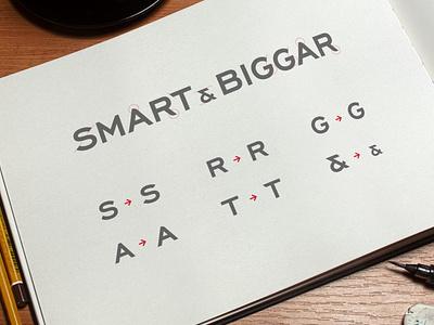Smart & Biggar Wordmark - Custom Modifications rebranding rebrand letterforms lettering wordmark corporate corporate identity minimal design branding typography vector logo