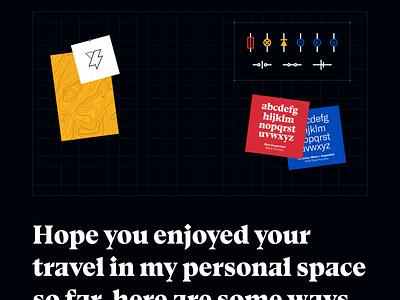 Moodboard Grid typography dark storm portfolio personal brand