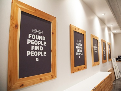 Framed Core Values By Newspring Creative Dribbble