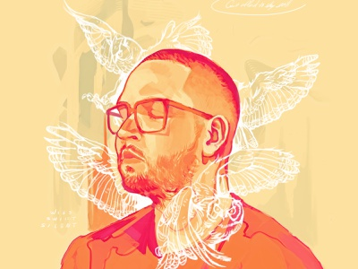 """Work In Progress"" Mixtape/Album album cover album art photoshop art illustration digital painting digital illustration"