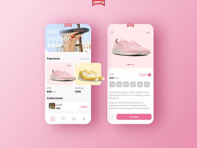 Camper - App store ui design ux design mobile digital product graphic design fashion shoes store web ux ui app