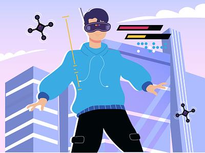 Boy in the virtual world gadget