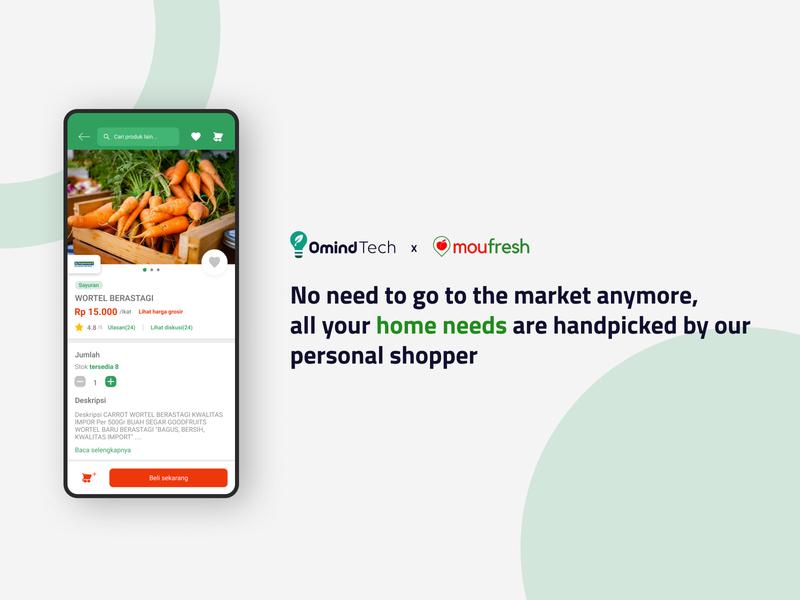 Moufresh App ui ux design branding app