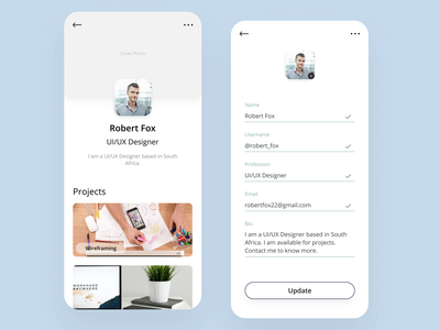 User Profile profile design profile page profile user 006 ux minimal junior dailyuichallenge dailyui 100daychallenge ui design app