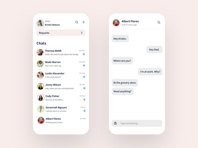 Chat Appication dailyui013 chatting message app message chat app chat typography ux minimal junior dailyuichallenge dailyui app 100daychallenge ui design