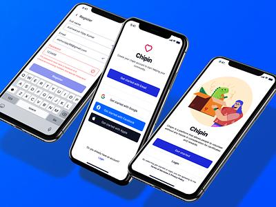 Chipin 💁♀️ google uiux modern mobile app design email apple icon web 3d blue error password product design forms light ui mobile app branding user dailyui minimal