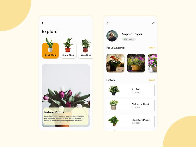 Plant App Ui shop plants app dailyui design ux uidesign ui app design