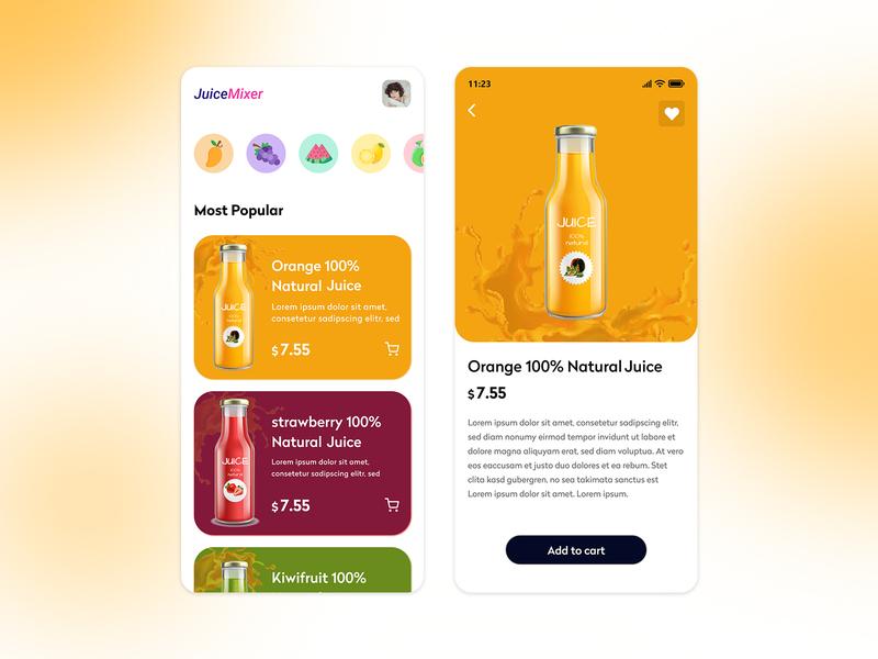 juice app ui app dailyui shop juice design ux app design dribbble uidesign ui
