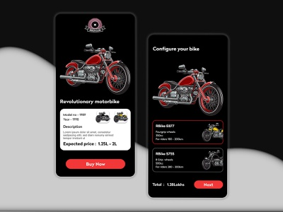 Bikerclub bikeshop app ui application bikeshop bike trendy design dribbble dailyui shop app uidesign ui ux design