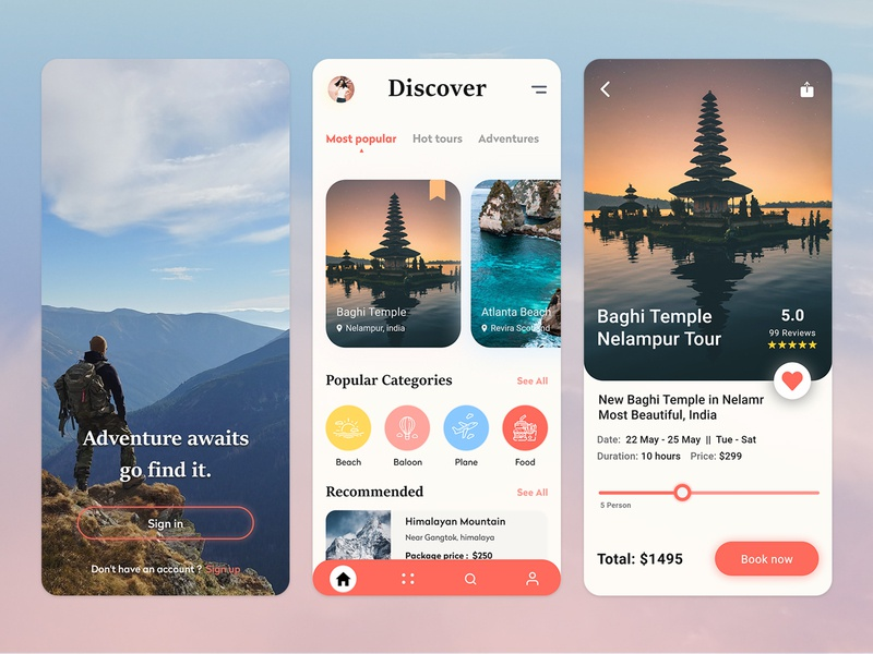Travel app ui design clean ui minimalist tourism ui dailyui design application app design traveling uidesign uiux travel app travel