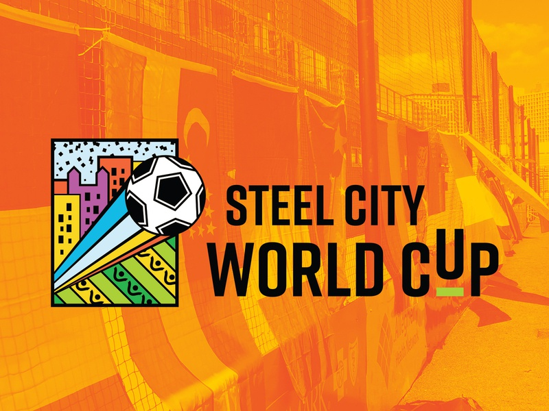 Steel City World Cup front-end development web design design logo world cup sports soccer website branding rebrand