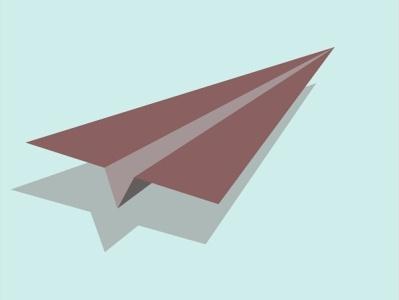Paper Plane graphic design minimal illustrator ux branding vector ui typography illustration