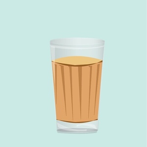 Cutting chai art flat design vector ux ui illustrator graphic design branding