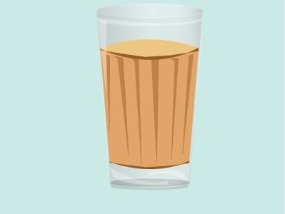Cutting chai art flat design vector ux ui illustrator graphic design branding