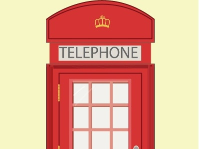 Telephone Booth illustrator graphic design typography illustration flat art ux vector ui branding