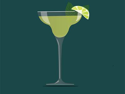 Margarita minimal design illustration art vector illustrator graphic design branding