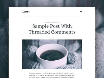 Letter - Version 2 blog theme wordpress ux ui typography web design genesis framework