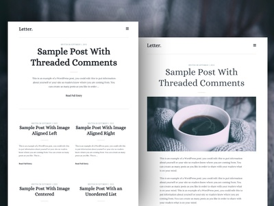 Free Theme Download: Letter freebie blog theme wordpress ux ui typography web design genesis framework