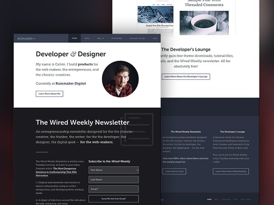 CK 2016 blog theme wordpress ux ui typography web design genesis framework