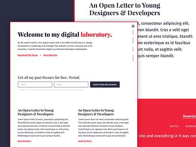 Chemical Theme - Home Teaser fira sans playfair display typography ux ui theme free wordpress genesis framework