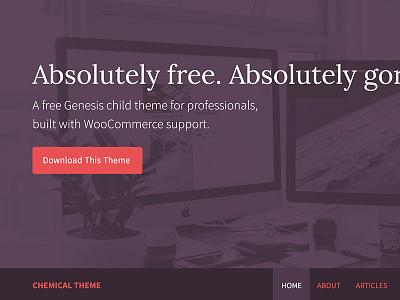 Chemical - Revamped fira sans playfair display typography ux ui theme free wordpress genesis framework