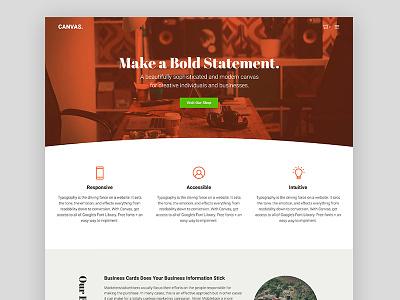 Canvas - Home blog woocommerce ecommerce theme wordpress genesis framework genesiswp