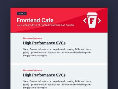 Frontend Cafe - Email Mockup layout typography frontend ui ux email email design