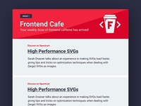 Frontend Cafe - Email Mockup