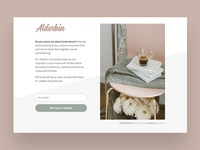 Alderbin signup page.