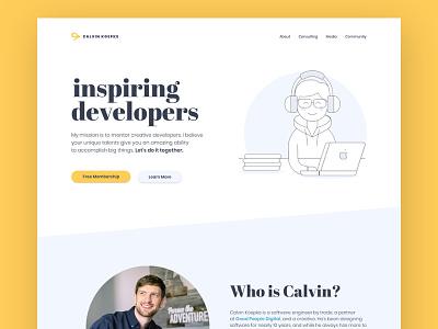 Personal Rebrand - Homepage design sans-serif serif personal website homepage branding ui web design