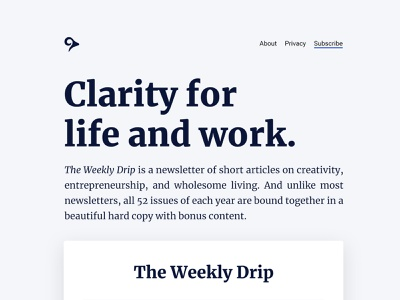 Personal Site Refresh landing page blog theme web design ux ui logo typogaphy user inteface web design