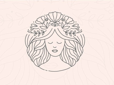 Feminine Design feminine design feminism feminist feminine logo feminine flat minimal design illustration logo
