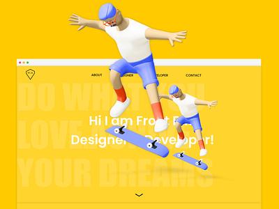 Front End Developer Portfolio UI/UX website design illustration web ux ui