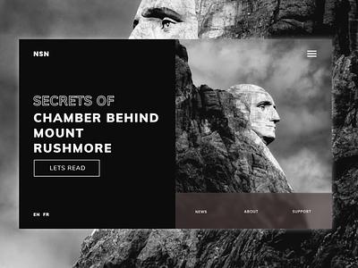 Mount Rushmore Blog Page web website ui ux illustration design
