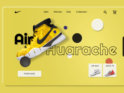 Air Huarache Page Design art adobexd logo vector branding graphic design design illustration website web ux ui