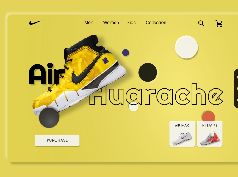 Air Huarache Page Design art adobexd logo vector branding graphic design design illustration website web ux ui