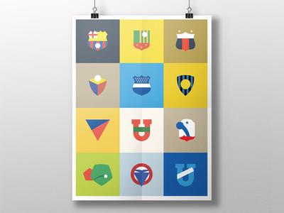 Minimalist Ecuadorian Football Emblems
