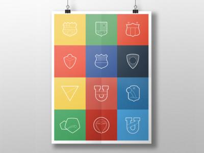 Outline Ecuadorian Football Emblems