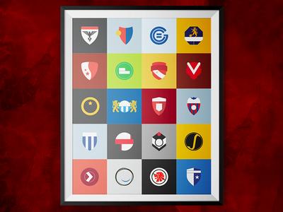 Swiss Minimalists Football Emblems