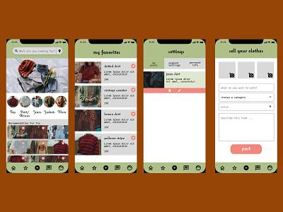 second hand clothes platform app practice shop sustainability berlin mobile design autumn uiux app secondhand