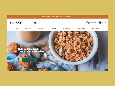ecommerce website nut retail shop nut vegan retail website uiux ecommerce