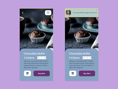 Social Proof App/ Adobe Creative Challenge chocolate uiux cake app