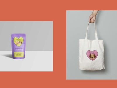 Logo Design Pet Love minimal shop ecommerce pet animal branding illustration berlin design logo