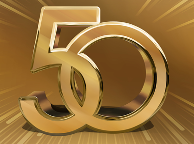 3D 50th graphic