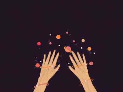 magic hand illustration