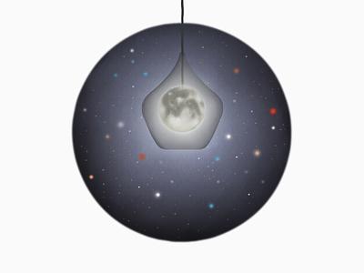 moon lamp illustration