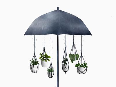 suara hujan illustration