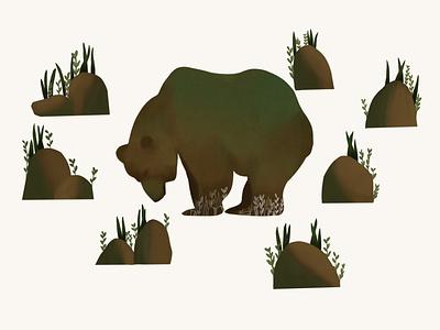 stone bear illustration
